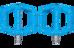 RFR Flat Race Pedale blue